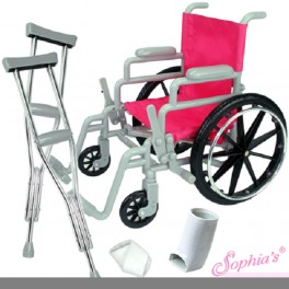 "Wheelchair & Accessories for 18"" doll"