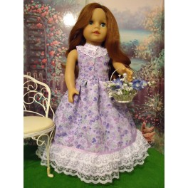 1850's Reproduction  dress in lavender
