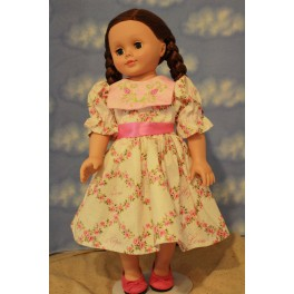 Rose Square Collared Dress